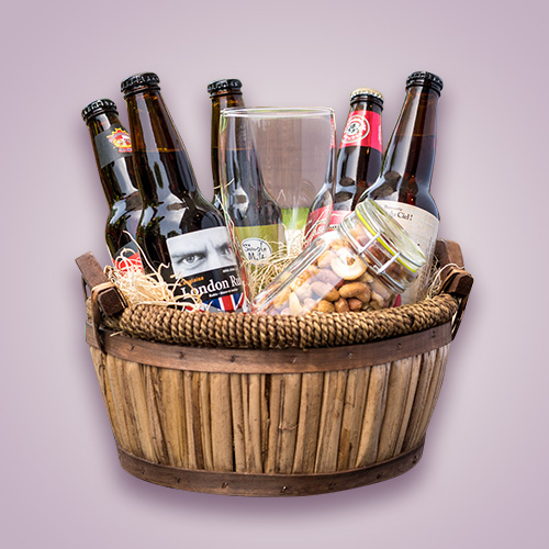 Orchid Gift Creations - Beer gift basket