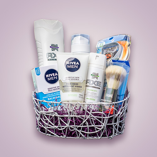 Men's Hygiene Gift Basket - Orchid Gift Creations