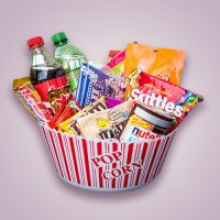 Orchid Gift Creations - movie snack gift basket